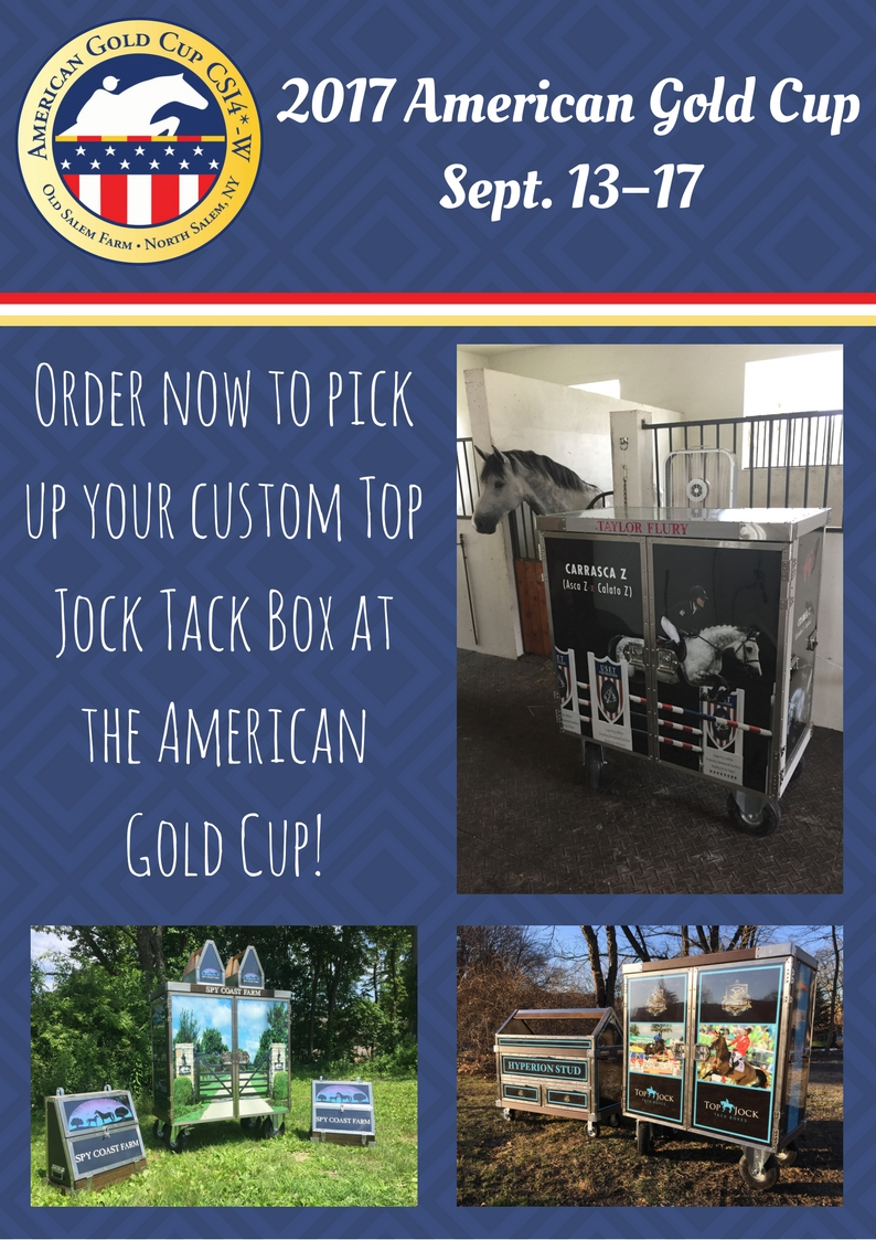 Have Your Top Jock Tack Box Hand Delivered at the American Gold Cup