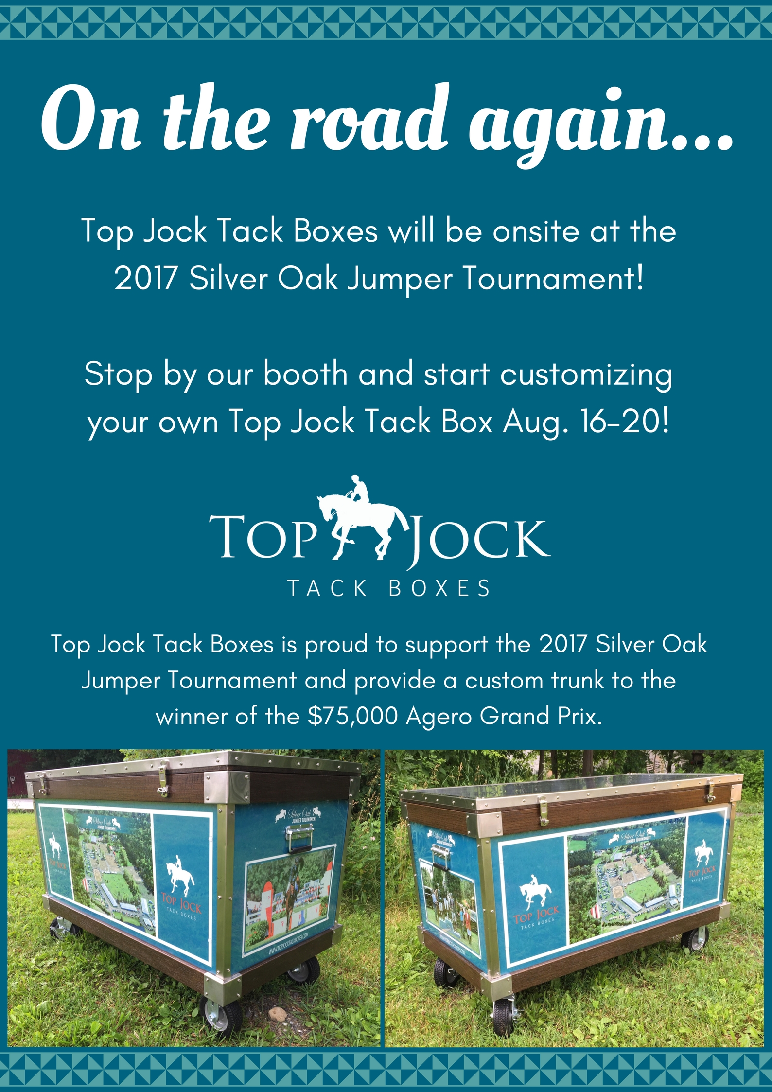 Top Jock Tack Boxes Heads to Silver Oak Jumper Tournament This Week!